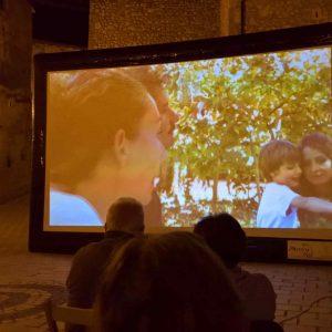 schermo per proiezione gonfiabile per proiezioni pop-up cinema all'aperto, proiezioni di piazza
